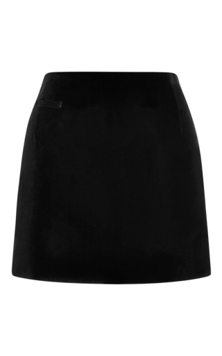 Medium marc jacobs black velvet mini skirt