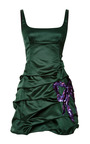 Emerald Silk Duchess Tank Dress With Sequined Bow by MARC JACOBS for Preorder on Moda Operandi