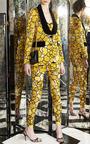 Gold Petal Tuxedo Jacket With Black Velvet Lapel by MARC JACOBS for Preorder on Moda Operandi