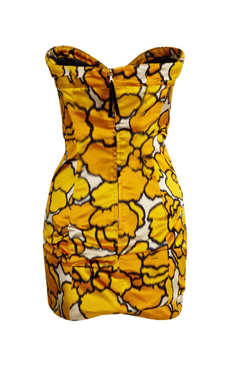 Gold Petal Bustier Dress by MARC JACOBS for Preorder on Moda Operandi