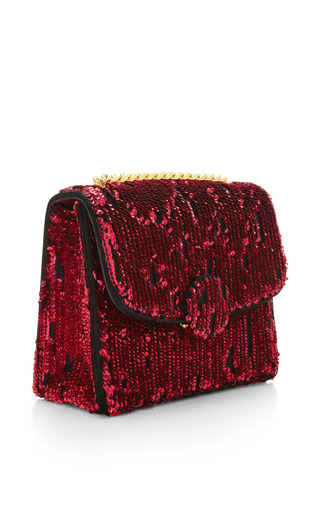 Mini Trouble Bag In Ruby Embroidered Paillettes by MARC JACOBS for Preorder on Moda Operandi