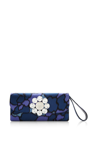 Medium marc jacobs print double trouble clutch in purple petal silk