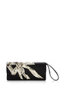 Double Trouble Clutch With Embroidered Antique Silver Bow by MARC JACOBS for Preorder on Moda Operandi