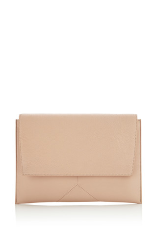 Medium narciso rodriguez brown ali clutch in nude leather