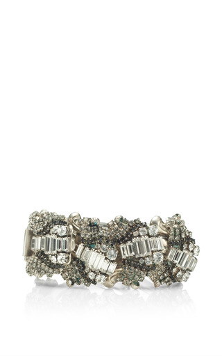 One Of A Kind Chain Bracelet With Crystal Diamonds by VICKISARGE for Preorder on Moda Operandi