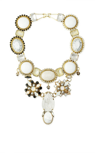 One Of A Kind Cream Necklace by VICKISARGE for Preorder on Moda Operandi