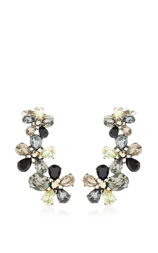 Medium vickisarge black fleur de lis earring clip earrings