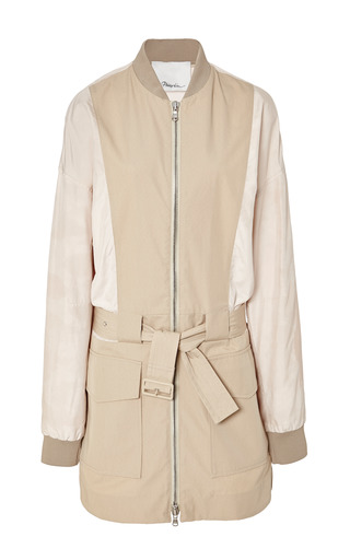 Safari Jacket With Trapunto Belt In Khaki by 3.1 PHILLIP LIM for Preorder on Moda Operandi