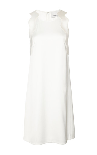 Medium 3 1 phillip lim white embroidered ric rac a line dress