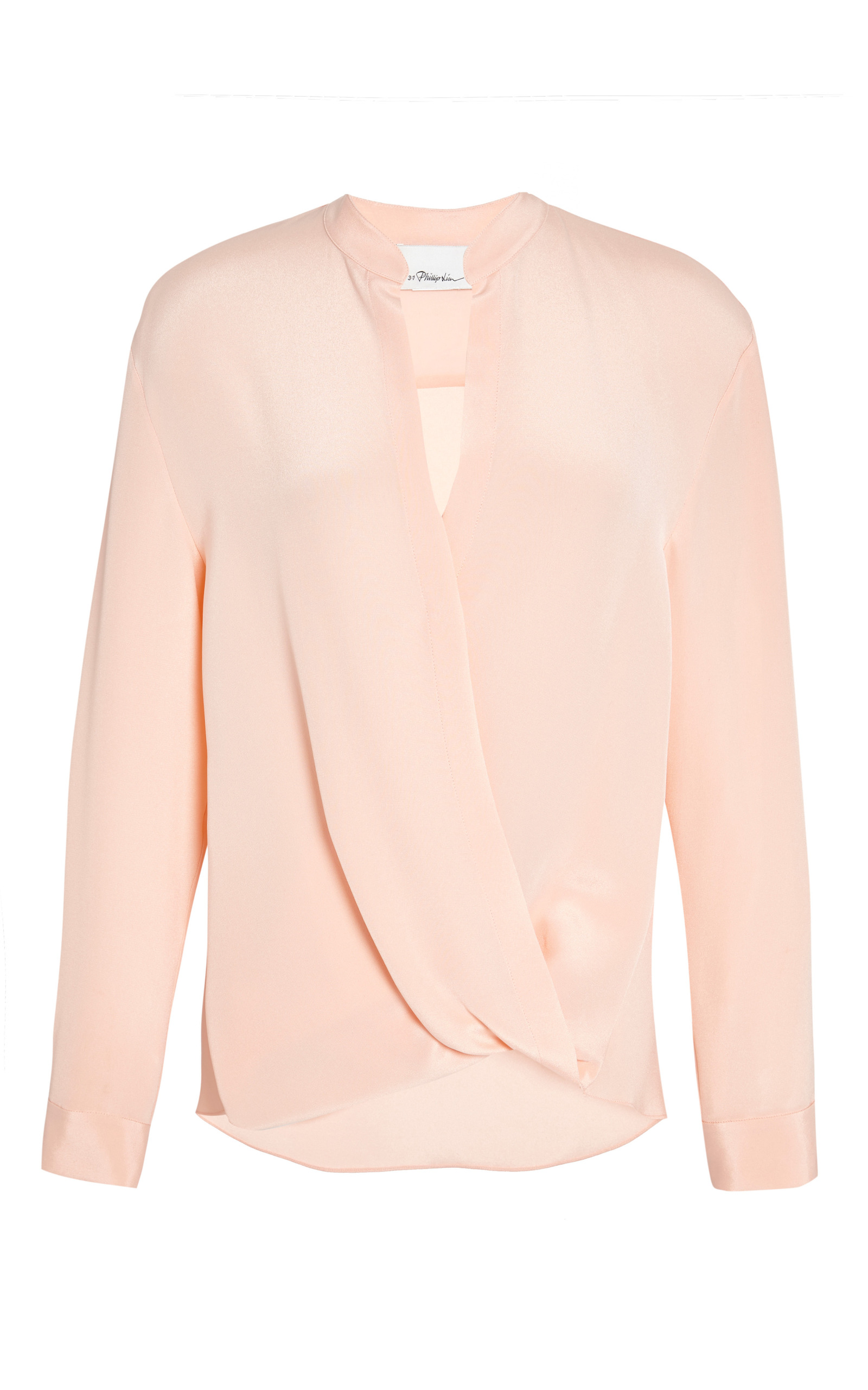 3b25ec096c508 3.1 Phillip LimSoftly Draped Blouse With Tucked In Collar In Peach Puff.  CLOSE. Loading