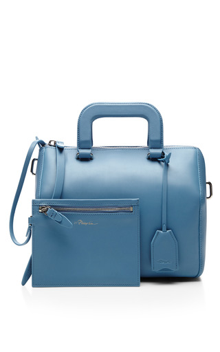Wednesday Small Boston Satchel In French Blue by 3.1 PHILLIP LIM for Preorder on Moda Operandi