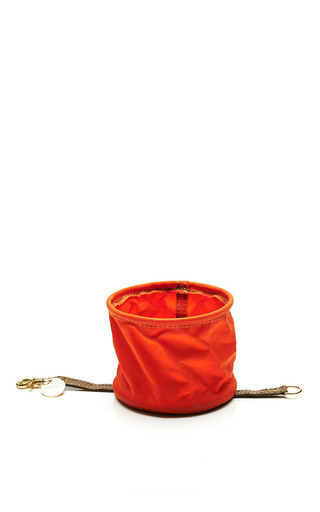 Medium found my animal orange orange canvas collapsable water bowl
