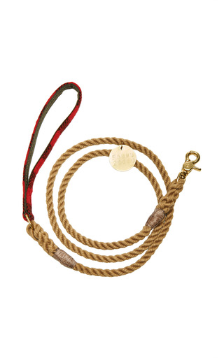 Medium found my animal brown buffalo plaid leash