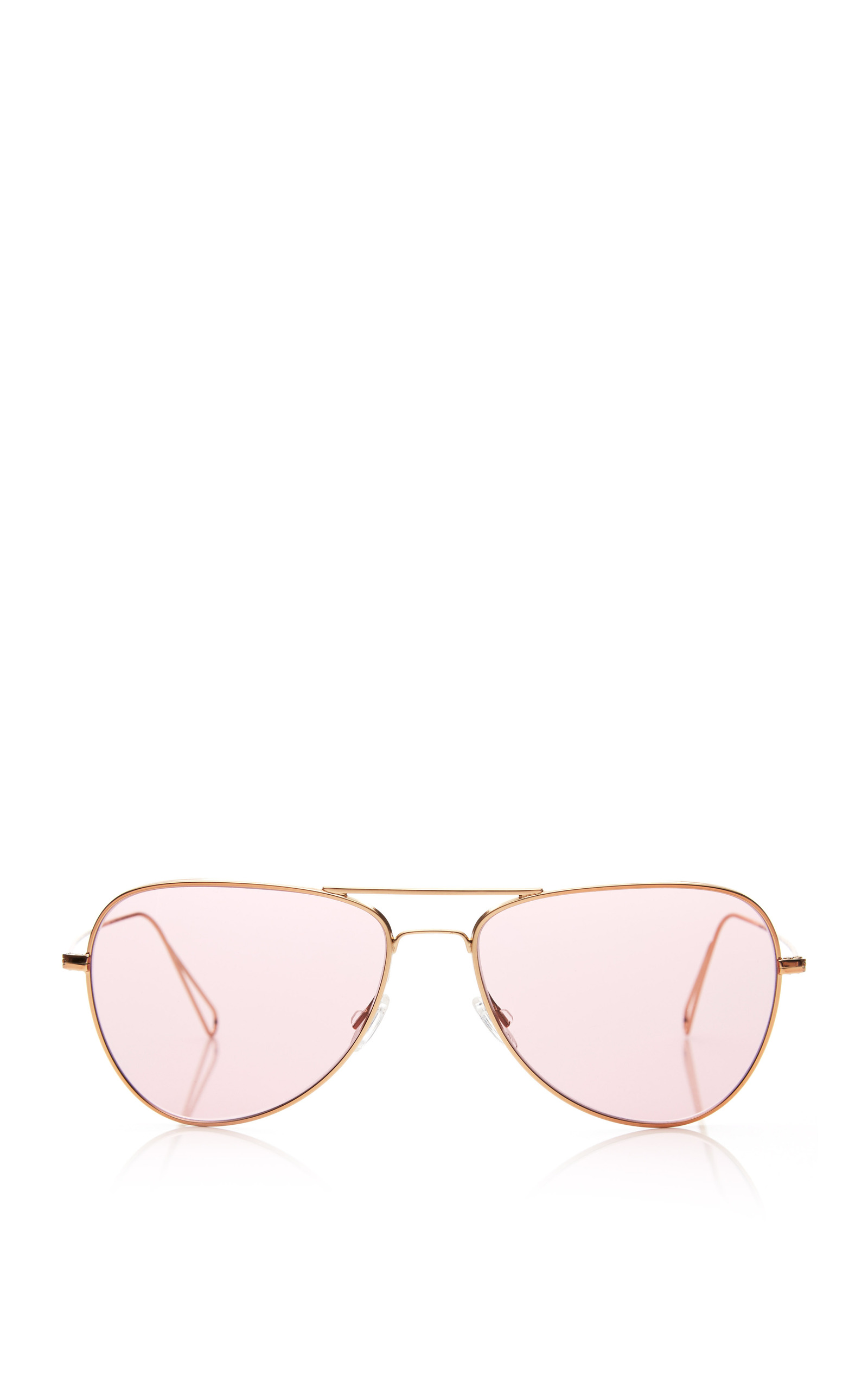 Matt Rose Gold-Tone Aviator Sunglasses by Oliver Peoples x Isabel ...