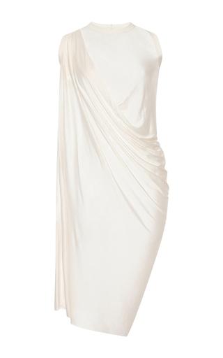 Medium rick owens white silk jersey anthem dress
