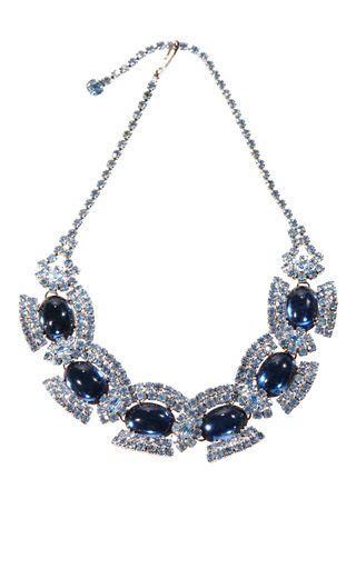 Vintage Juliana Royal Blue Cabochon Necklace by CAROLE TANENBAUM for Preorder on Moda Operandi