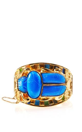 Medium carole tanenbaum gold vintage thomas fattorini egyptian revival scarab bracelet