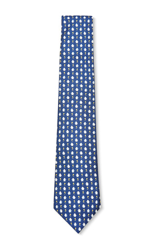 Medium battistoni multi navy giraffe tie