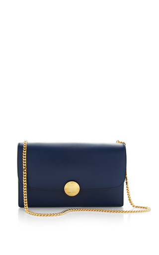 Medium marc jacobs blue big box calf trouble bag in blue