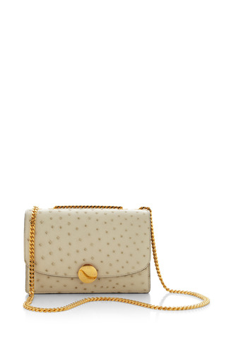 Medium marc jacobs white ostrich trouble bag in ivory