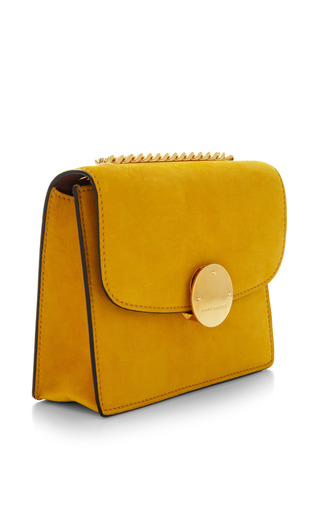 Mini Suede Trouble Bag In Sunflower by MARC JACOBS for Preorder on Moda Operandi