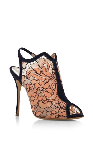 Lace Open Toe Glove Sandal In Orange by NICHOLAS KIRKWOOD for Preorder on Moda Operandi