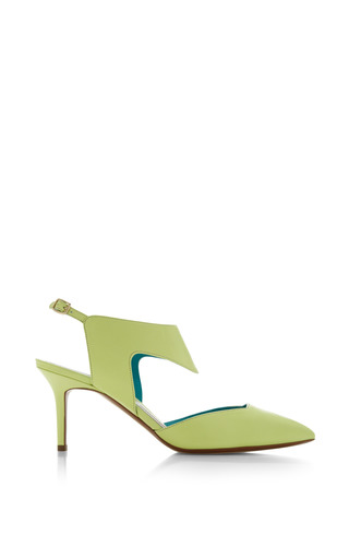 Medium nicholas kirkwood lime green cut out pump in lime