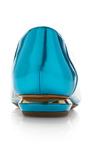 Chevron Skimmer In Turquoise by NICHOLAS KIRKWOOD for Preorder on Moda Operandi