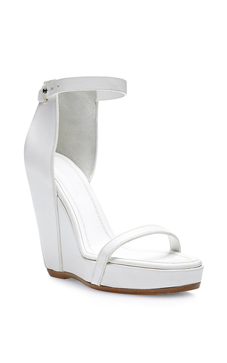 Medium rick owens white web wedge sandal