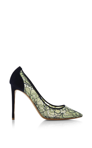 Medium nicholas kirkwood light green lace pointed toe pump in mint