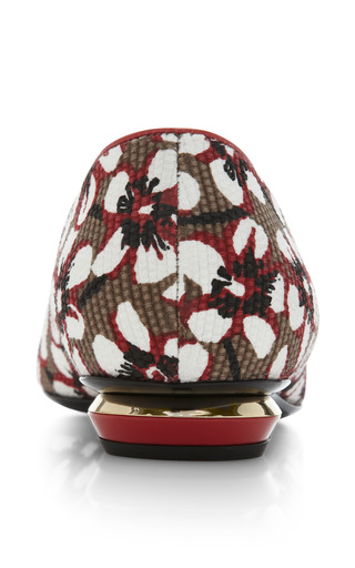 Season Hexagon Skimmer In Red Floral by NICHOLAS KIRKWOOD Now Available on Moda Operandi