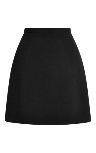 Medium wes gordon black crepe mini skirt