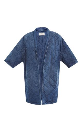 Medium current elliott blue the quilter car coat
