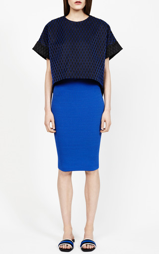 Seamed Boxy Tee by JONATHAN SIMKHAI for Preorder on Moda Operandi