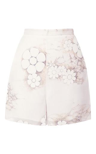 Medium honor multi high waist floral printed organza shorts