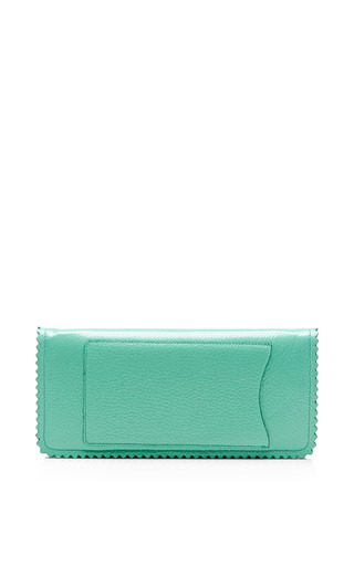 Seafoam Green Continental Chain Wallet by ROCHAS for Preorder on Moda Operandi
