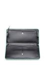 Seafoam Green Continental Chain Wallet by ROCHAS for Preorder on Moda Operandi