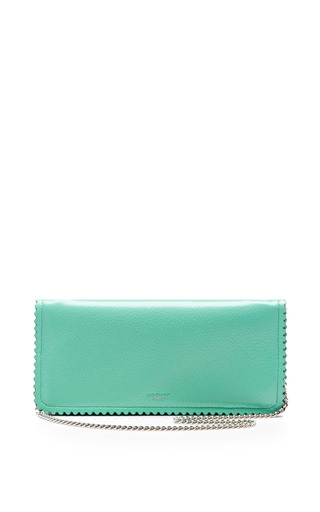 Medium rochas green seafoam green continental chain wallet