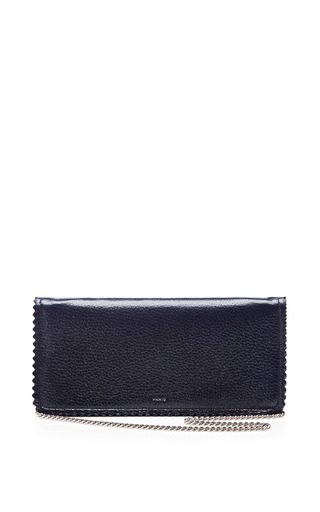 Medium rochas blue midnight blue continental chain wallet