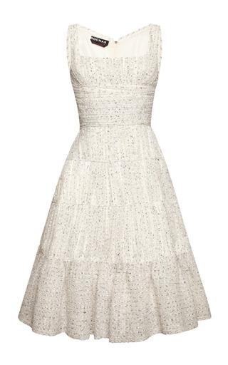 Medium rochas multi pleated boucle a line dress