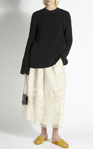 Black Knit Sweater With Silk Back by ROCHAS for Preorder on Moda Operandi