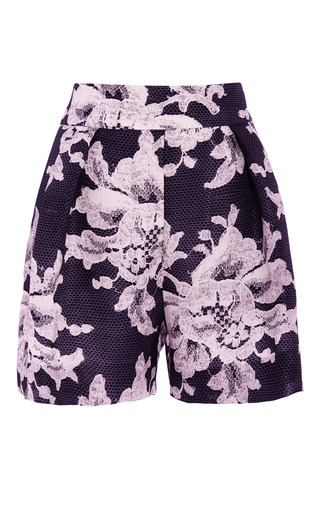 Lace Brocade Print Short by CAROLINA HERRERA for Preorder on Moda Operandi