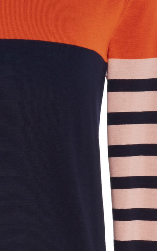 Blue Orange Nude Knit Dress by CéDRIC CHARLIER for Preorder on Moda Operandi