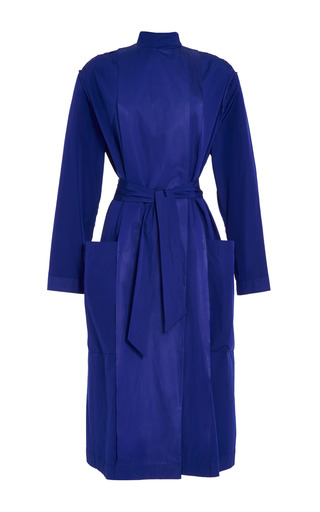 Medium cedric charlier blue blue taffeta coat