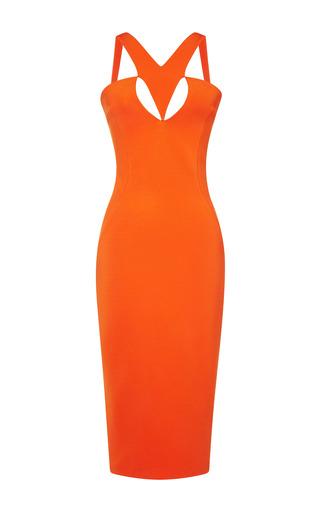 Medium cushnie et ochs orange power viscose tangerine dress