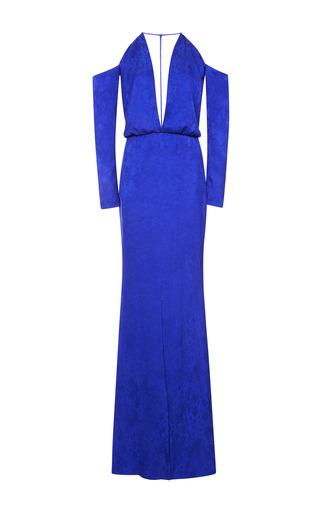 Medium cushnie et ochs purple viscose blue violet python gown