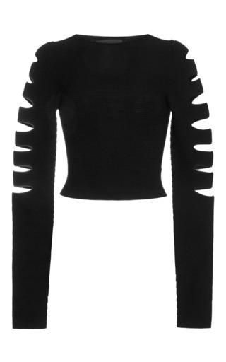 Medium cushnie et ochs black rayon viscose knit black top