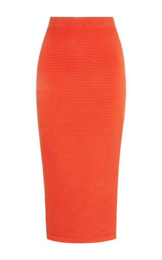 Medium cushnie et ochs orange rayon viscose knit soft tangerine skirt