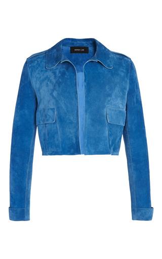 Medium derek lam blue cobalt nubuck short jacket