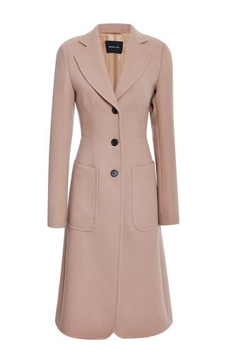 Medium derek lam brown brushed doubleface crepe long coat